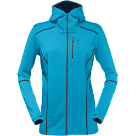 Norrøna Trollveggen Warm/Wool1 Zip Hoodie Women Blue Moon